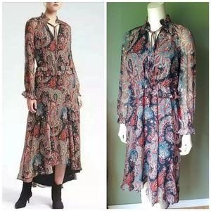 BANANA REPUBLIC OLIVIA PALERMO Paisley Silk Dress
